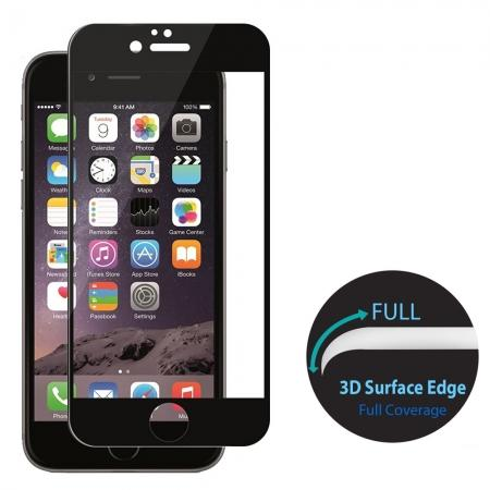 3D Curved Full Coverage Tempered Glass Screen Protector for iPhone 7 4.7inch - Black