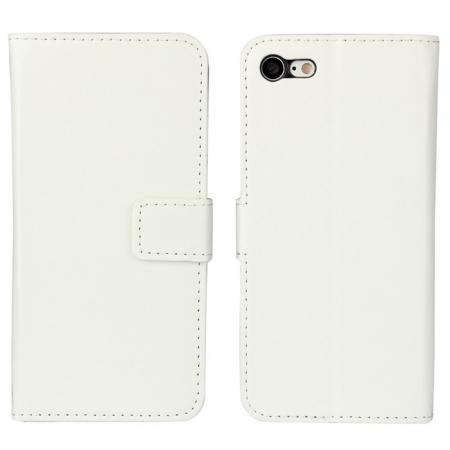 Crazy Horse Magnetic PU Leather Flip Case Inner TPU Cover for iPhone 7 Plus 5.5 inch - White
