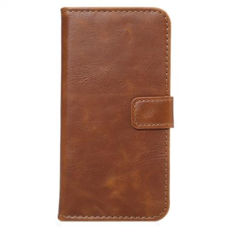 Crazy Horse Pattern Wallet Flip Stand PC+PU Leather Case Cover For iPhone 7 4.7 inch - Light Brown