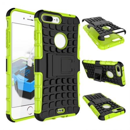 Shockproof Dual Layer Hybrid Armor Kickstand Protective Case for iPhone 7 Plus 5.5inch - Green