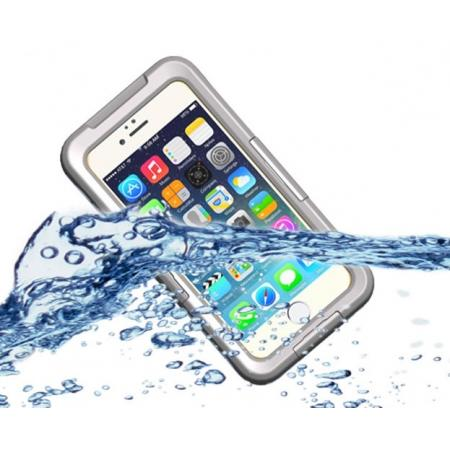 Waterproof Durable Shockproof Dirt Snow Proof PC Case Cover for iPhone 7 4.7 inch - White