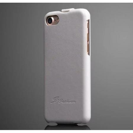 Crazy Horse Grain Top Flip Leather Case for iPhone 7 4.7inch - White