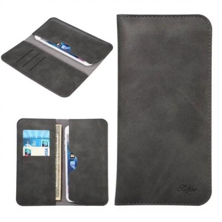Crazy Horse PU Leather Flip Bag Pouch Wallet Case for iPhone 7 Plus 5.5 Inch - Black