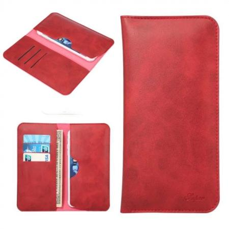 Crazy Horse PU Leather Flip Bag Pouch Wallet Case for iPhone 7 Plus 5.5 Inch - Red