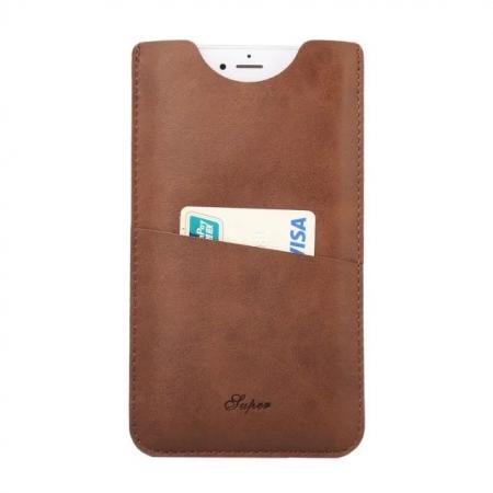 High quality Leather Pouch Case With Card Holder for iPhone 7 4.7 inch - Brown