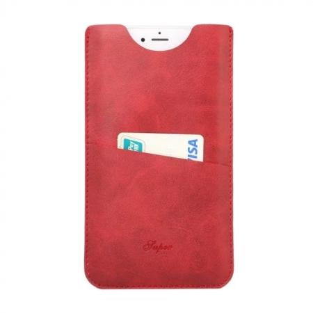 High quality Leather Pouch Case With Card Holder for iPhone 7 4.7 inch - Red