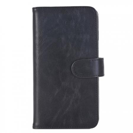 Luxury Crazy Horse Leather Flip Case Wallet With Card Holder for iPhone 7 Plus 5.5 inch - Black
