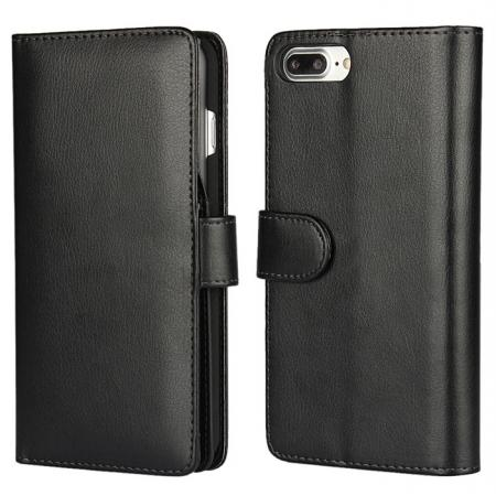 Multifunction Wallet Card Slots Stand Leather Flip Case for iPhone 7 Plus 5.5 inch - Black