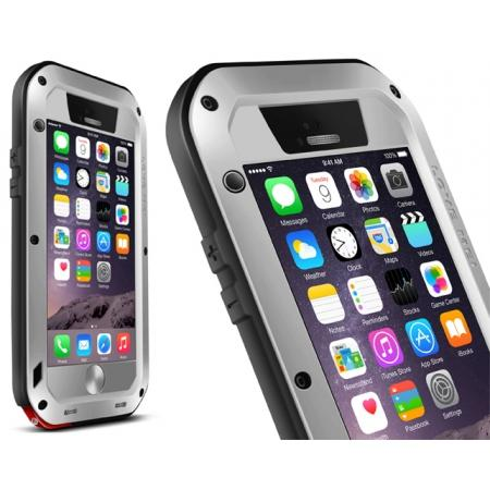 Waterproof Shockproof Aluminum Gorilla Glass Metal Case for iPhone 6/6S/6S Plus/7/7Plus - Silver