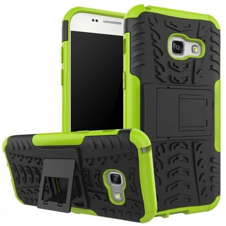 ShockProof Dual Layer Armor Kickstand Protective Case For Samsung Galaxy A5 (2017) - Green