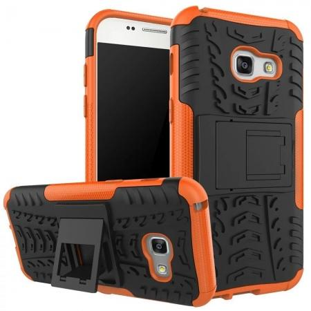 ShockProof Dual Layer Armor Kickstand Protective Case For Samsung Galaxy A5 (2017) - Orange