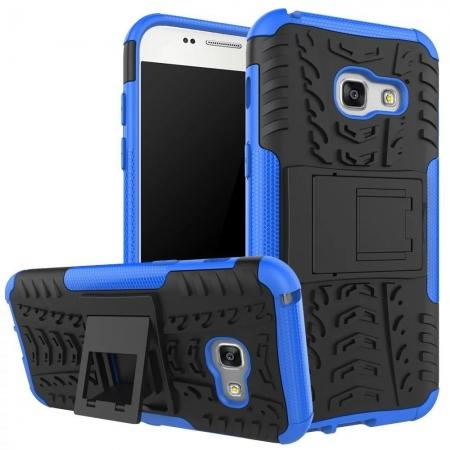 Shockproof Armor Kickstand Hybrid Protective Cover Case For Samsung Galaxy A7 (2017)  - Blue