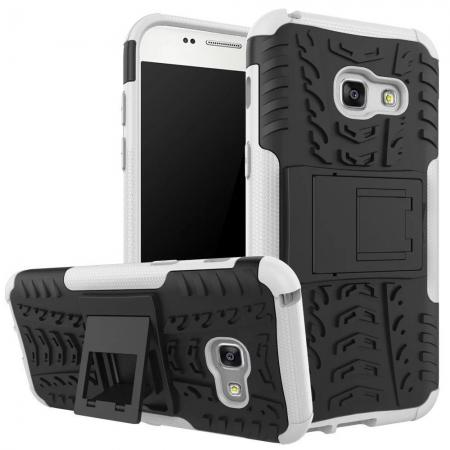 Shockproof Armor Kickstand Hybrid Protective Cover Case For Samsung Galaxy A7 (2017)  - White