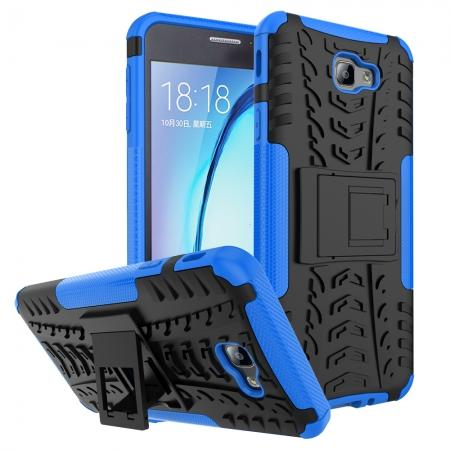 Shockproof Dual Layer Armor Kickstand Defender Protective Case For Samsung Galaxy J7 2017 - Blue