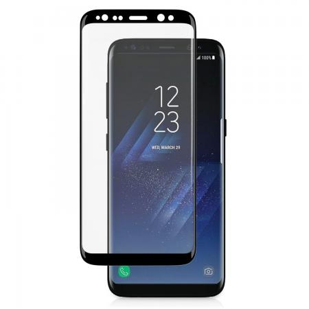 3D Curved Edge Ultra Clear Full Coverage 9H Hardness Tempered Glass Screen Protector for Samsung Galaxy S8+ Plus - Black