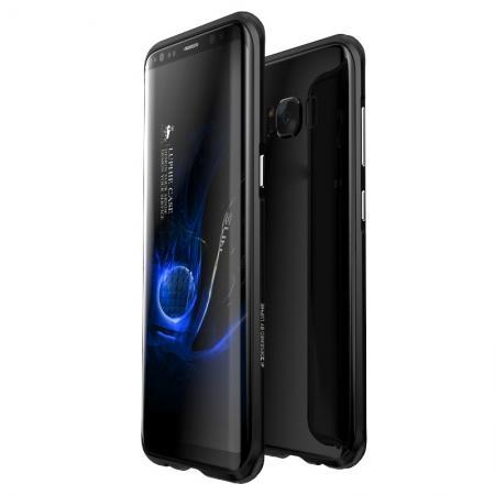Aluminum Alloy Metal Bumper Frame Case Cover for Samsung Galaxy S8 - Black