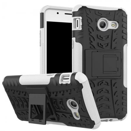 Hybrid Dual Layer Armor Defender Kickstand Protective Case for Samsung Galaxy J5 (2017) - White