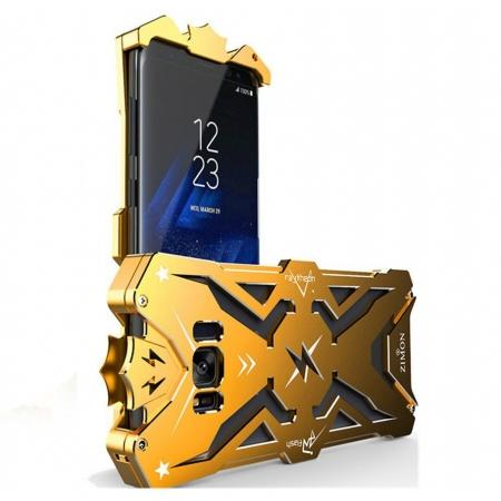 Luxury Heavy Duty Armor Metal Aluminum Phone Cover Case For Samsung Galaxy S8 Plus - Gold