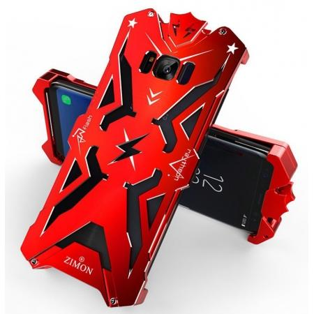 Luxury Heavy Duty Armor Metal Aluminum Phone Cover Case For Samsung Galaxy S8 Plus - Red