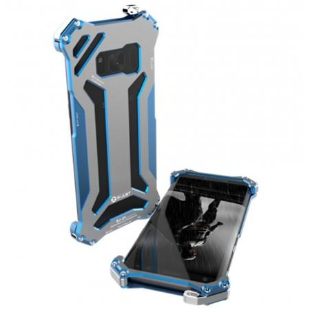 R-JUST Shockproof Dropproof Aluminum Metal Case for Samsung Galaxy S8+ Plus - Blue