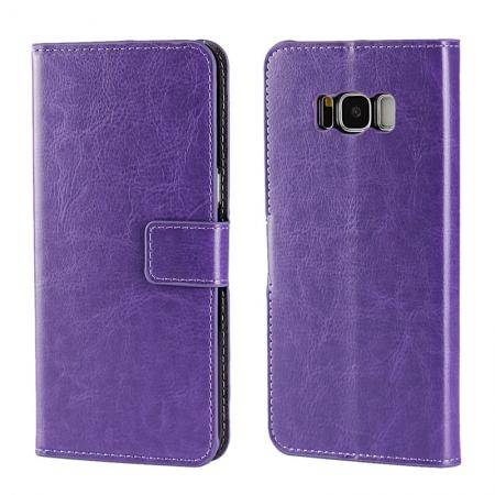 Crazy Horse Pattern PU Leather Wallet Case Protector For Samsung