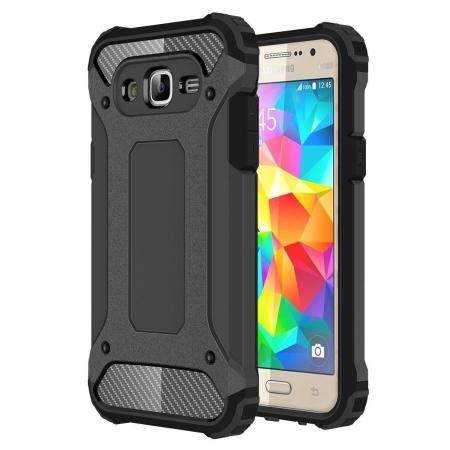Dual Layer Shockproof Armor Case Cover for Samsung Galaxy J2 Prime - Black