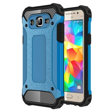 Dual Layer Shockproof Armor Case Cover for Samsung Galaxy J2 Prime - Blue