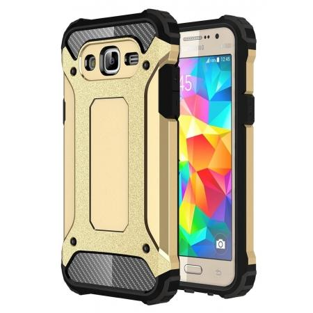Dual Layer Shockproof Armor Case Cover for Samsung Galaxy J2 Prime - Gold