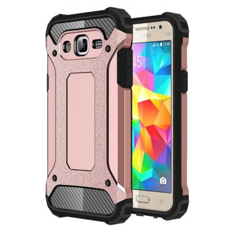 Dual Layer Shockproof Armor Case Cover for Samsung Galaxy J2 Prime - Rose Gold