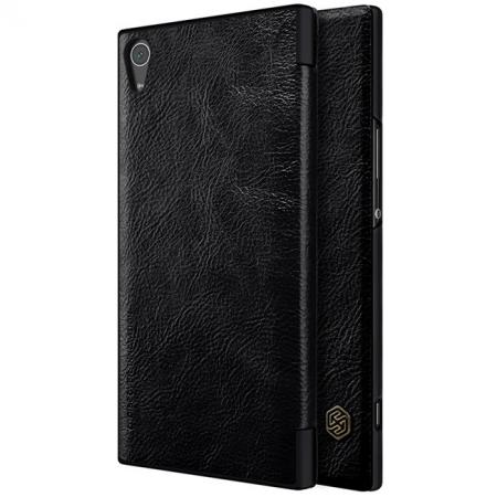 Nillkin Qin Series Slim PU Leather Flip Cover Case for Sony Xperia XA1 Ultra - Black