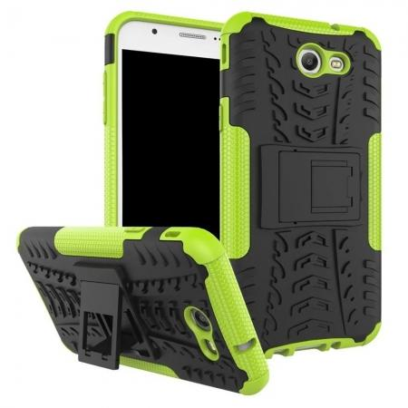 Shockproof Protection Dual Protective Armor Case Cover with Kickstand for Samsung Galaxy J7 Prime 2017 - Green