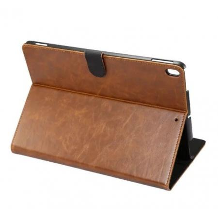 Crazy Horse Leather Folio Stand Case Cover For iPad Pro 10.5-inch - Brown