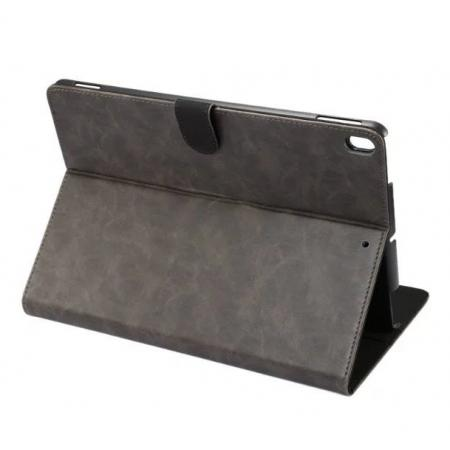 Crazy Horse Leather Folio Stand Case Cover For iPad Pro 10.5-inch - Grey