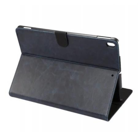 Crazy Horse Leather Folio Stand Case Cover For iPad Pro 10.5-inch - Navy Blue