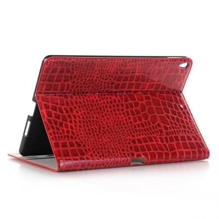Crocodile Folio Flip Leather Stand Case Cover for iPad Pro 10.5-inch - Red