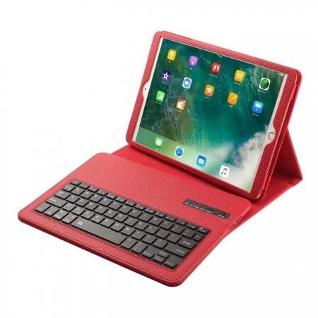 Removable Bluetooth Keyboard Leather Case for 10.5-inch iPad Pro - Red
