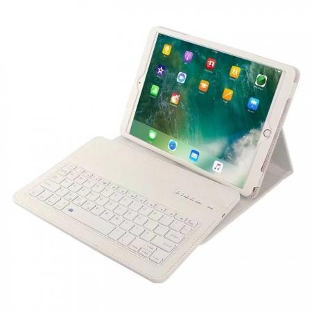 Removable Bluetooth Keyboard Leather Case for 10.5-inch iPad Pro - White