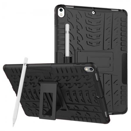 Rugged Armor TPU Hard Hybrid ShockProof Stand Case Cover For iPad Pro 10.5 inch - Black