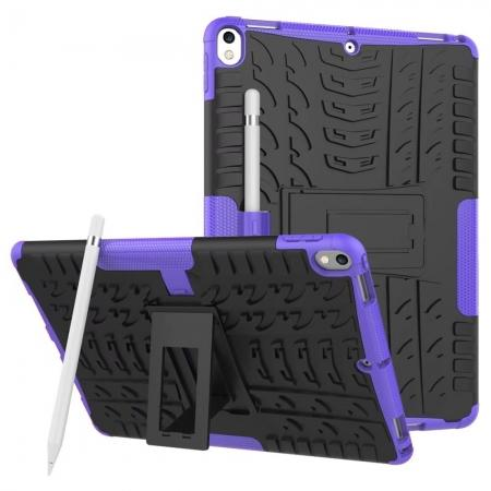 Rugged Armor TPU Hard Hybrid ShockProof Stand Case Cover For iPad Pro 10.5 inch - Purple