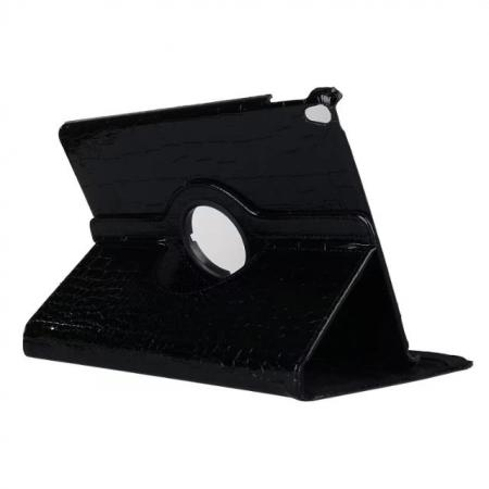 360 Degree Rotating Crocodile PU Leather Case for iPad Pro 10.5-inch - Black