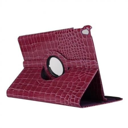 360 Degree Rotating Crocodile PU Leather Case for iPad Pro 10.5-inch - Purple