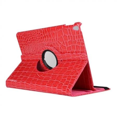 360 Degree Rotating Crocodile PU Leather Case for iPad Pro 10.5-inch - Rose