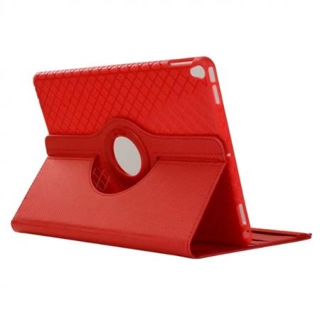360 Degree Rotating PU Leather Case With Stand For iPad Pro 10.5 inch - Red