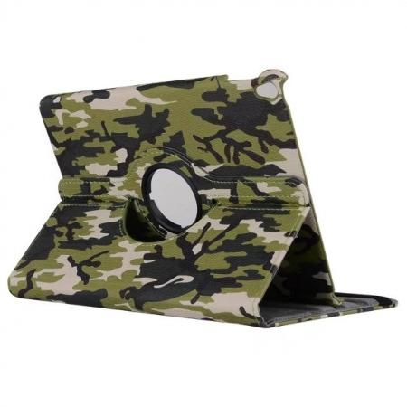 360 Rotating Mutil-angle Stand Leather Case For iPad Pro 10.5 inch - Camouflage