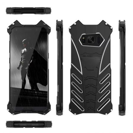 Aluminum Alloy Armor Bumper Shockproof Drop Resistance Shell Back Cover For Samsung Galaxy S8+ Plus - Black