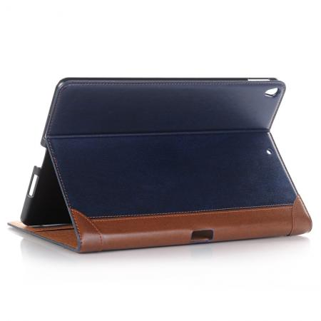 Business Book Style Leather Flip Stand Case for iPad Pro 10.5-inch - Dark Blue