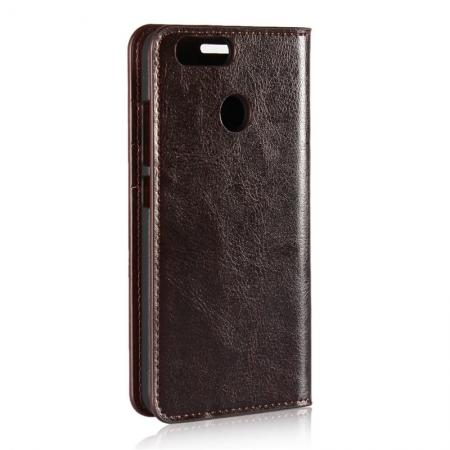 Huawei Nova 2 Crazy Horse Genuine Leather Wallet Case
