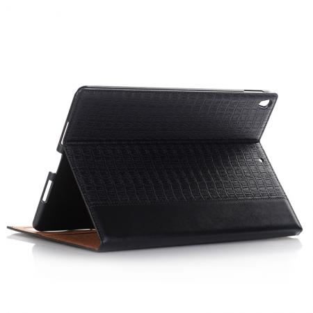 Luxury Crocodile Pattern Stand Book Leather Tablet Case For iPad Pro 10.5-inch - Black