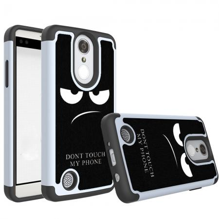 Tough Protective Rubber Bumper Shockproof Hybrid Phone Case For LG Aristo / LG K8 2017 - White&Black