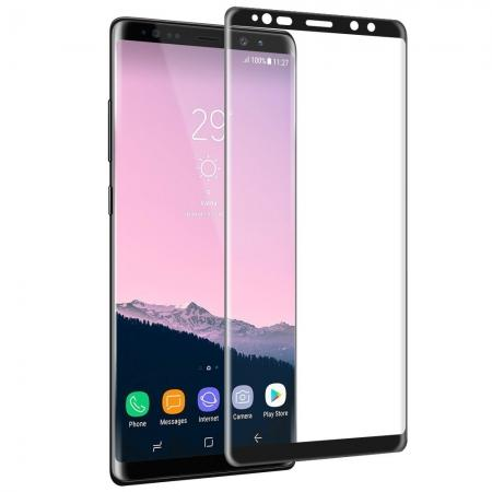 3D Curved Edge Full Coverage Tempered Glass Screen Protector for Samsung Galaxy Note 8 - Black
